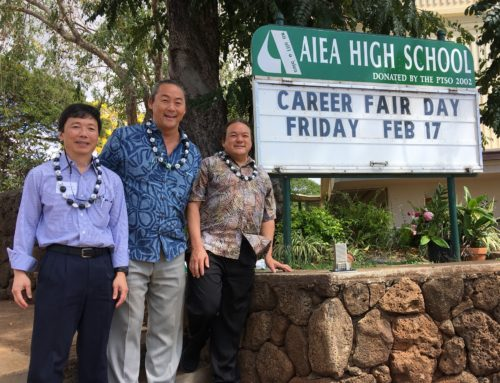 Joe & Tommy Uno Visit Aiea High School's Career Fair Day