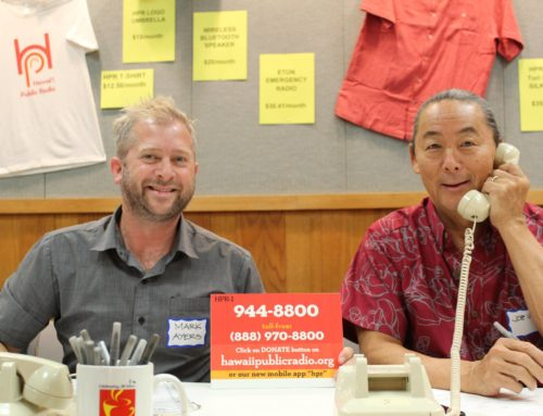 Joe Uno Volunteers for Hawaii Public Radio's Spring Fundraiser