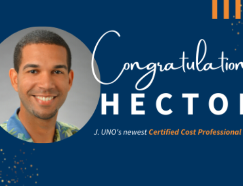 Hector Garcia is J. UNO's newest Certified Cost Professional (CCP)